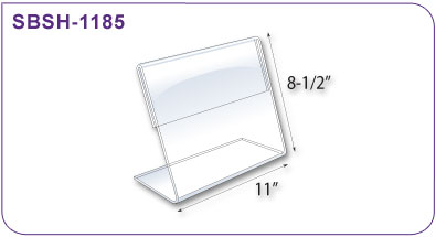 Slant Back Clear Plastic Budget Sign Holder 11 In W X 8