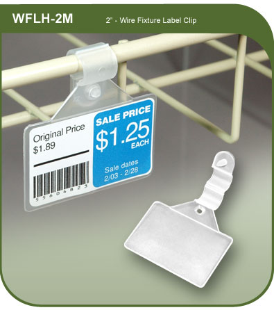 Wire Fixture Label Holder Clip - 2-1/16-in. h