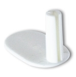 2001EC - Aluminum Banner and Poster Hanger End Cap, White Plastic