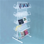 2382W - Impulse Display with 10 Shelves White
