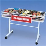 3197W - 4 foot Mobile Merchandising Table White