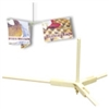 8800-7006W - 3-Dowel Suspended Straight Mobile-System with Mini-Twist On & Hook & Cord