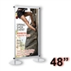 AST4-S - Apollo Snapgraphics Display Stand - 48 inch - Silver