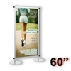 AST5-S - Apollo Snapgraphics Display Stand - 60 inch - Silver