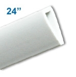 BBH-24W - 24 inch Budget Banner and Poster Hanger Display - White Polystyrene