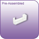DC-35P - Pre-Assembled Die-Cut Vinyl Literature and Brochure Holder - 3-1/2 in. w x 1-1/2 in. h