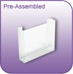DC-45P - Pre-Assembled Die-Cut Vinyl Literature and Brochure Holder - 4-1/2 in. w x 5 in. h x 1-1/4 in. d