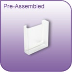 DC-4P - Pre-Assembled Die-Cut Vinyl Literature and Brochure Holder - 4 in. w x 5 in. h x 1-1/4 in. d