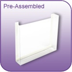 DC-6P - Pre-Assembled Die-Cut Vinyl Literature and Brochure Holder - 6 in. w x 5 in. h x 1-1/4 in. d