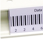 DCW-48C - 48 inch Data and Price Channels in Clear Plastic - Clips to Shelf