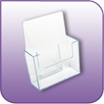 EBH-6 - Free-Standing Clear Acrylic Brochure and Literature Display Holder - 6 in. w x 7-3/4 in. h