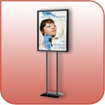 LF228-B - Poster Sign Stand - Black