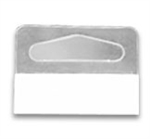LT-261 - Peg Hook Clear Hang Tabs - 1-1/4 in. h x 1-5/8 in. w