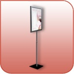 SF4SFTV-B - Freestanding Aluminum Signage Display Stand