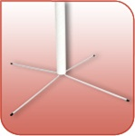 W2003 - Steel-Wire Litho-Pole Support Feet for use with 1-1/2-in. I.D. Litho-Pole Displays - 24-in. Span