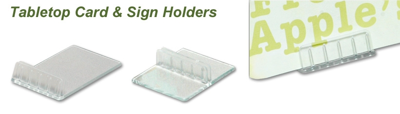 Table Top Card And Sign Holder Merchandising Inventives - Table top sign holders