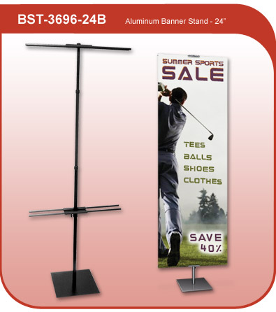 Aluminum Banner Display Stand