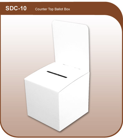 Corrugated Ballot Box  sc 1 st  Merchandising Inventives & Countertop Corrugated Ballot and Raffle Box - 10-in. w x 10-1/4-in. d Aboutintivar.Com