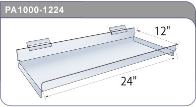 Straight Acrylic Slatwall Shelf