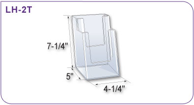 Two Tiered Acrylic Literature Holder