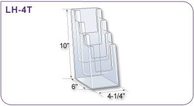 Four Tiered Acrylic Literature Holder