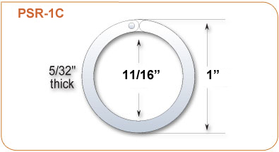 Clear Plastic Split Ring Product Size