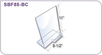 Slant back literature holder wbusiness card holder 8 12 in w x slant back literature holder colourmoves
