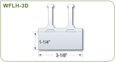 Wire Fixture Label Holder