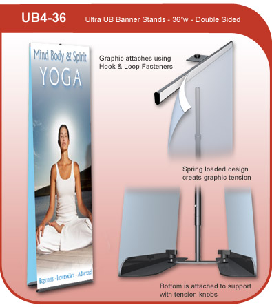 Ultra UB Banner Display Stand - Double Sided
