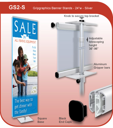Gripgraphics Banner Display Stand - 24 inch