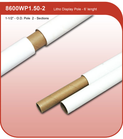 White Litho Pole
