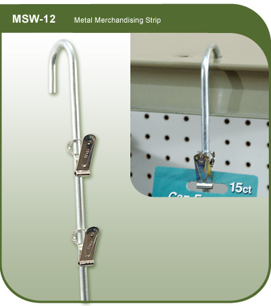 Metal Merchandising Strip
