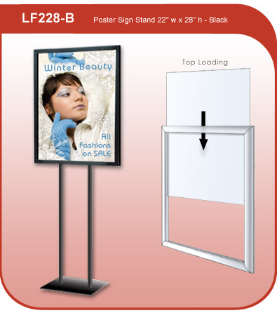 Poster Sign Stand - Black