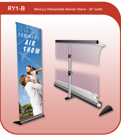 Retractable Banner Display Stand