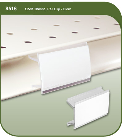 Shelf Channel Rail-Clip