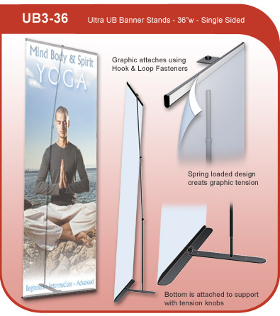 Ultra UB Banner Display Stand - Single Sided