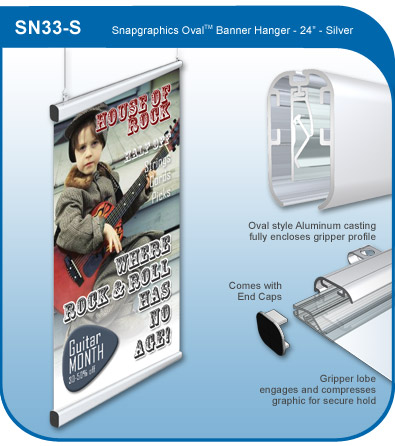 Snapgraphics Grippers - Oval Banner Hanger