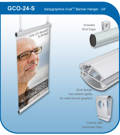 Snapgraphics Oval Banner Hanger