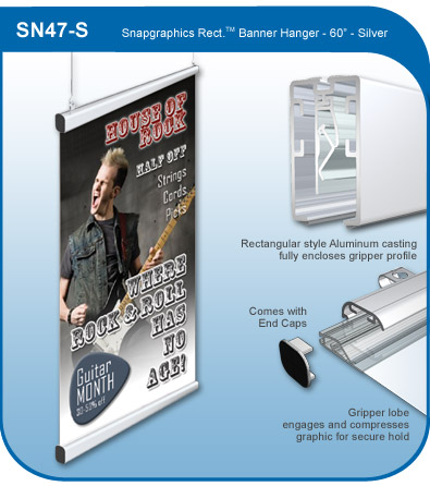 Snapgraphics Grippers - Rectangular Banner Hanger