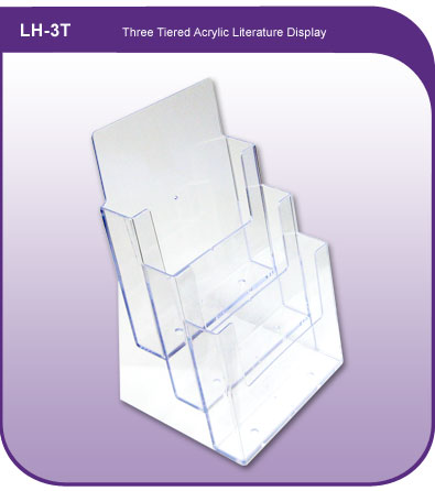 Three Tiered Acrylic Literature Holder
