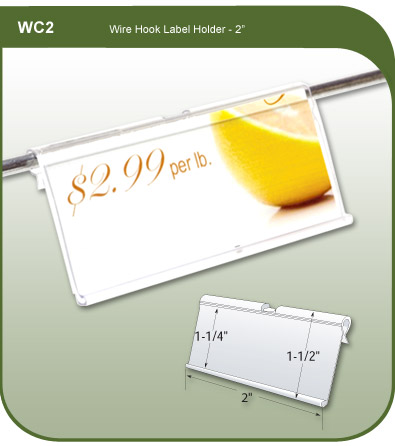 Wire Hook Label and Ticket Holder
