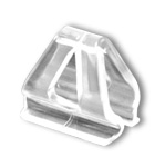 2001CC - Aluminum Banner and Poster Hanger Mounting Clip, Clear Plastic