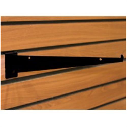 12 inch black slatwall shelf bracket. Black Bedroom Furniture Sets. Home Design Ideas