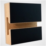 2951BK - Horizontal Slatwall Panels Black 4'x8'