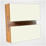 2951W - Horizontal Slatwall Panels White 4'x8'