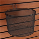 "2998 - 11"" Wire Mesh Basket for Slatwall"