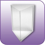 "3SLP-85 - Die-Cut Three-Sided Literature Pocket - 8-1/2""w x 11""h"