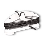 7208B - Mini Twist-On Ceiling Hanger - 8' Black Cord with barbed end