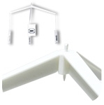 8500-7006W - Tri-Arm Ceiling Hanging Mobile Display with Mini-Twist-On & Hook & Cord