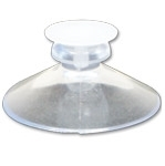9000T - 1-3/4 inch Clear Suction Cup w/Tack